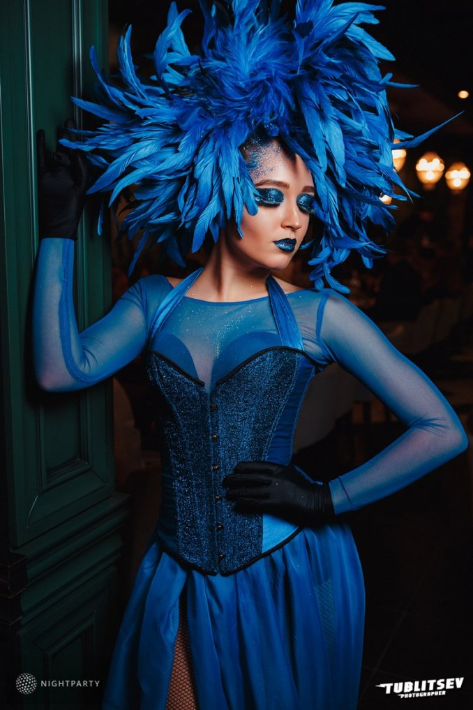 """Клубный перфоманс Гипноз (клубное шоу, атмосферное шоу). Образ """"Синие птицы"""""""