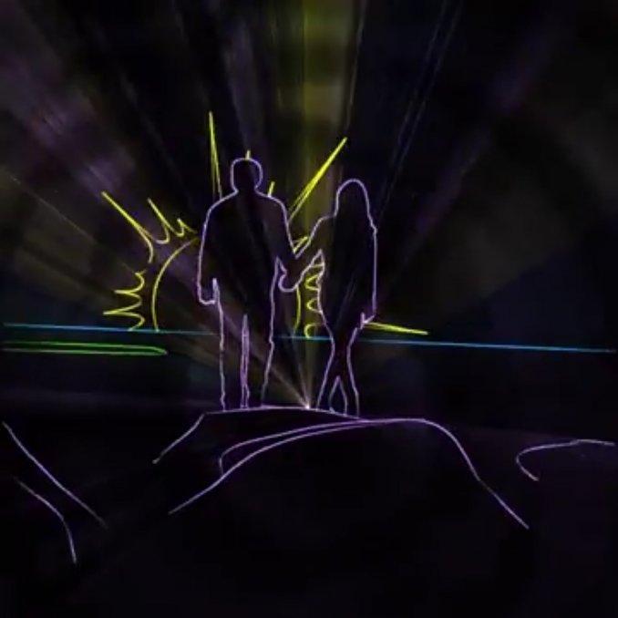 Лазерное шоу на торжество