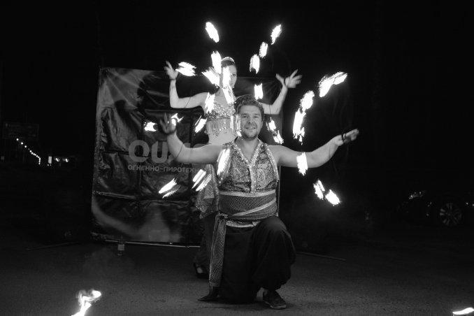 Огненное шоу Арабская ночь