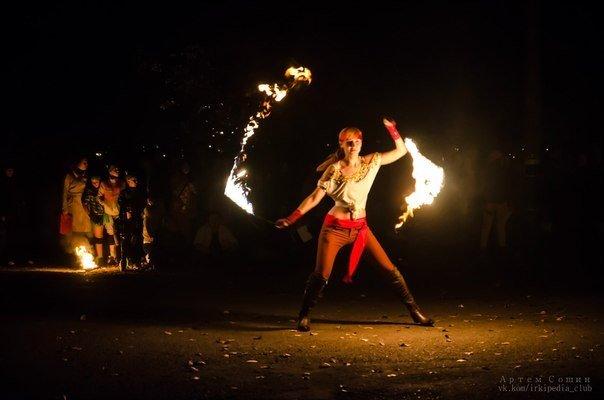 Огненное шоу от Таи Лисовой