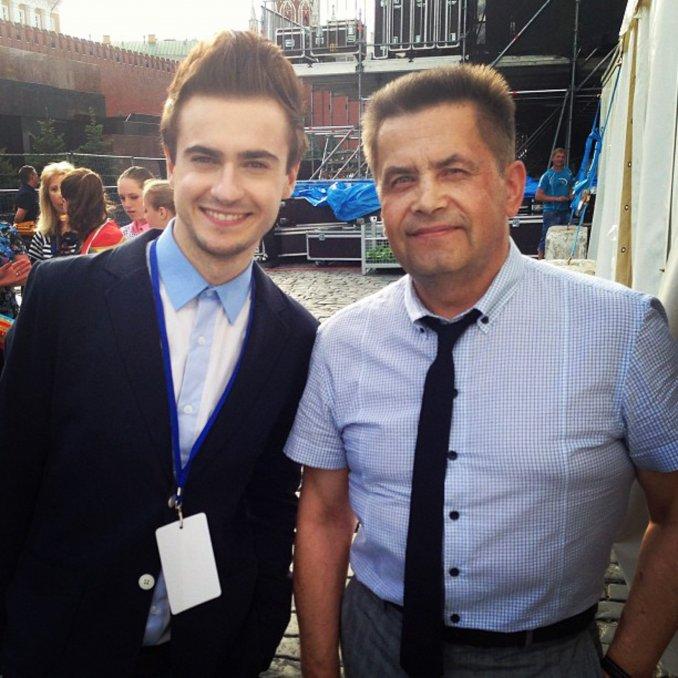 Николай Расторгуев и Владимир Строжук. Красная площадь