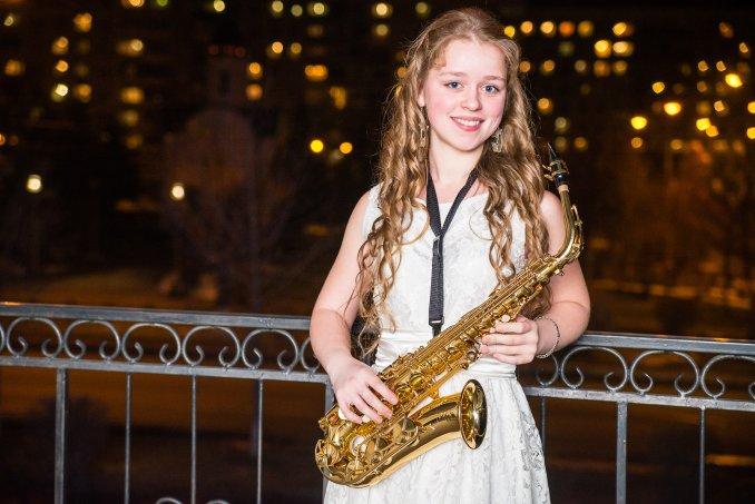 Саксофонистка Дарья Бабичева